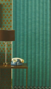 Moire Teal Vertical Blinds
